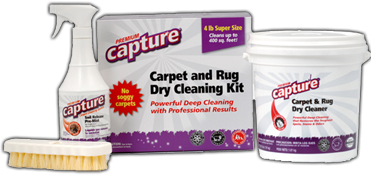 Capture Carpet and Rug Dry Cleaning Kit